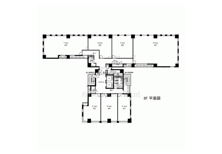 8階平面図